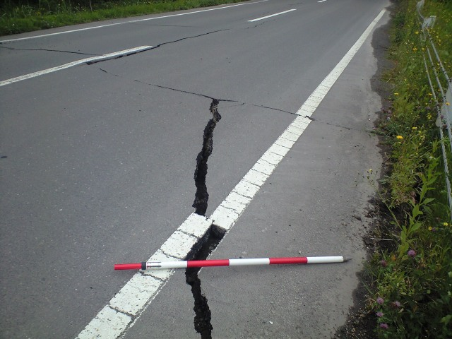 道路の亀裂